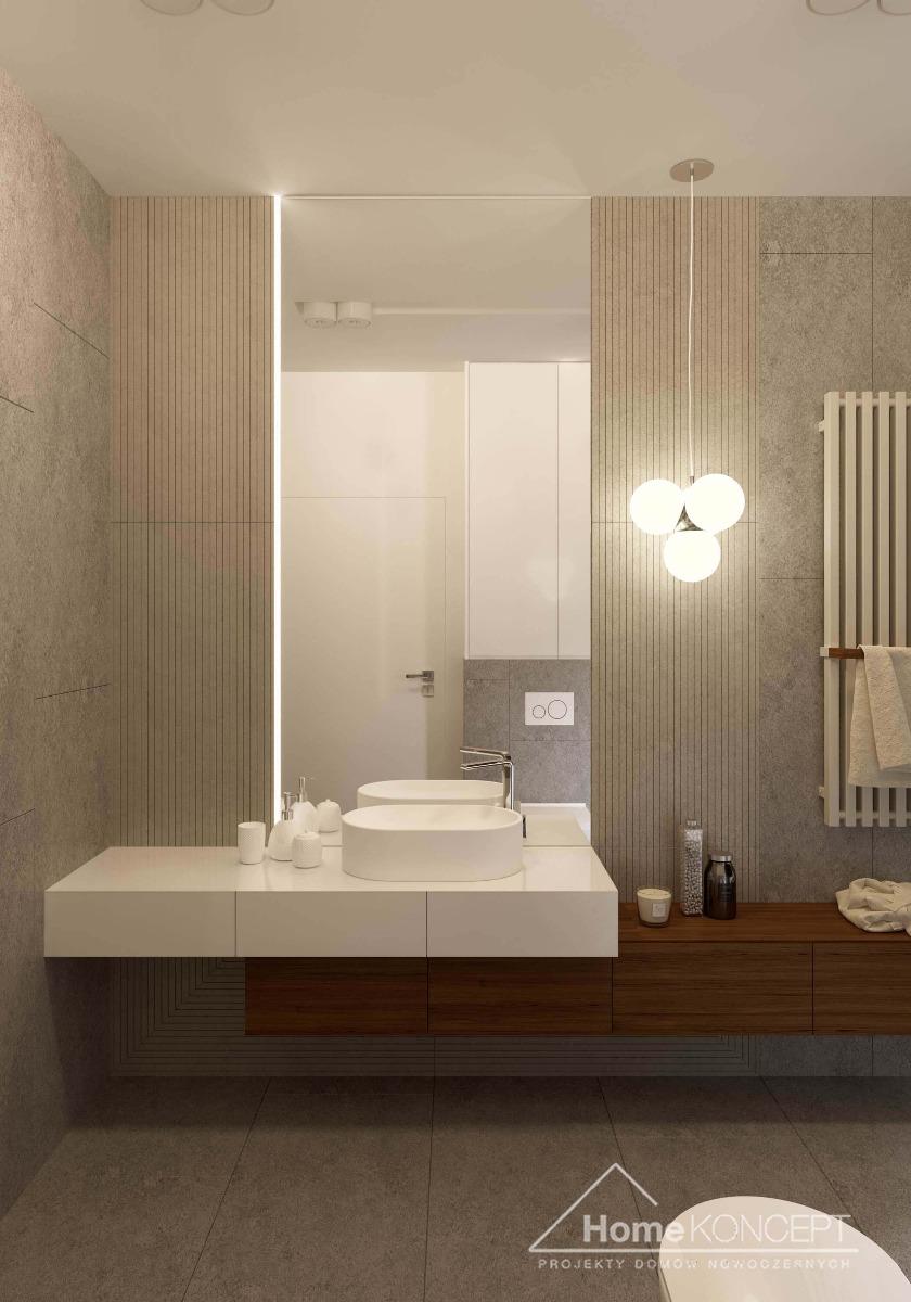 Łazienka HK36 z dekoracyjną fakturą płytek
